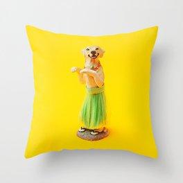 Hula Dog Throw Pillow