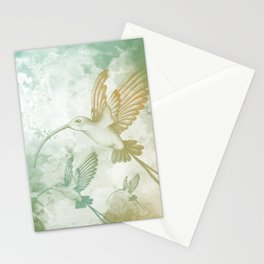 Colorful little bird Stationery Cards