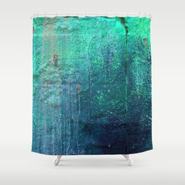 Green Entropy I Shower Curtain
