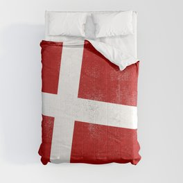 Danish Distressed Halftone Denim Flag Comforters