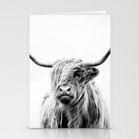 lucy Stationery Cards featuring portrait of a highland cow by Dorit Fuhg