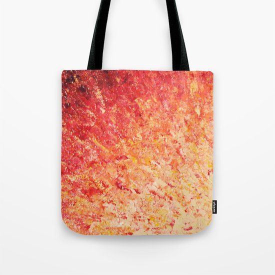 SAILOR'S SUNRISE - Beautiful Modern Abstract Crimson and Pink Nature Sky Sunset Ocean Reflection Tote Bag