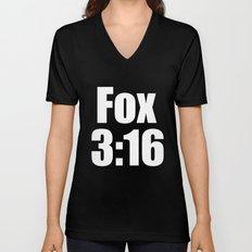 Fox 3:16 Unisex V-Neck