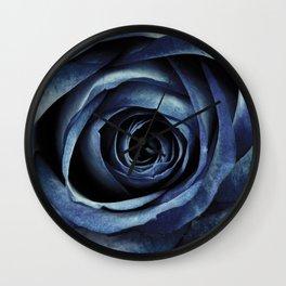 Blue Rose Bloom Decorative Wall Clock