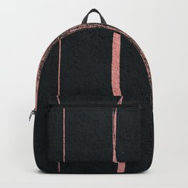 Rose Gold Cement Abstract Backpack