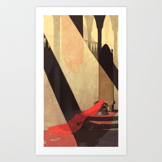Lamentation of a Widowed Queen Art Print