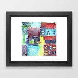 The Fruit and Veg Shop Framed Art Print