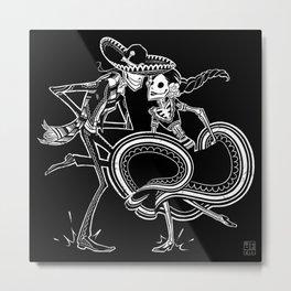 ZAPATEADO ON BLACK Metal Print