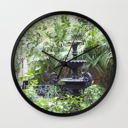 New Orleans Cafe Fountain Wall Clock