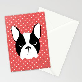 Dog - Boston Terrier Stationery Cards