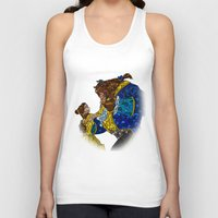 beauty and the beast Tank Tops featuring Beauty and the Beast by JackEmmett