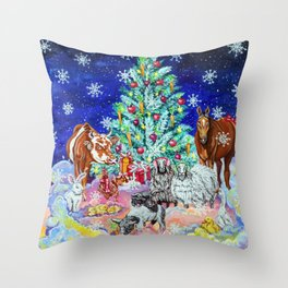 Compassionate Christmas Throw Pillow