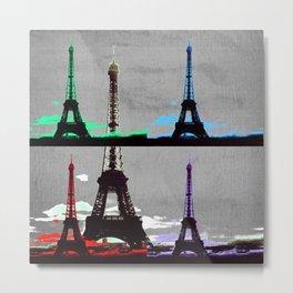 Paris, Eiffel Tower - Pop Art Metal Print