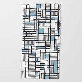 Map Lines Sky Blue Beach Towel