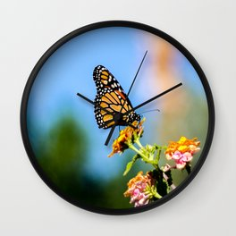 Monarch Visitor Wall Clock