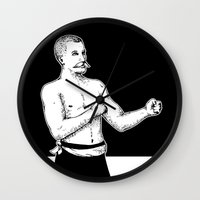 boxer Wall Clocks featuring Boxer by Moose van Papendorp