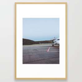 airplane at aspen airport Framed Art Print