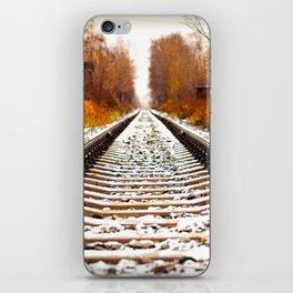 Autumn Forest Train Tracks iPhone Skin