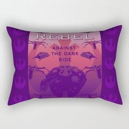 Rebel Against the Dark Side Propaganda Poster Rectangular Pillow