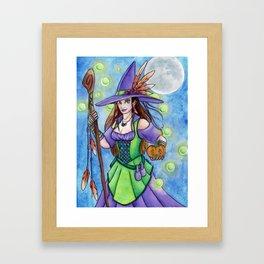 Witch Lights Framed Art Print