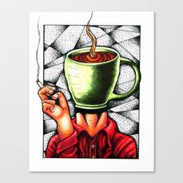 coffee head Canvas Print