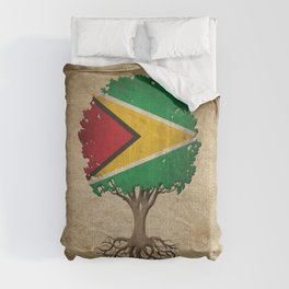 Vintage Tree of Life with Flag of Guyana Comforters