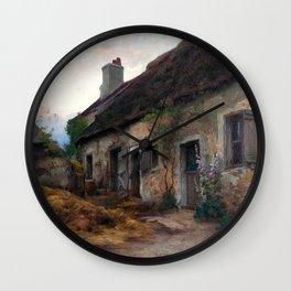 Marc-Aurèle de Foy Suzor-Coté - Thatched Hut and Landscape Wall Clock
