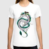 chihiro T-shirts featuring Haku and Chihiro by Mrs Storm