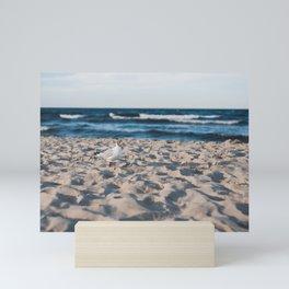 Seaside beach landscape and beautiful coastline with sea waves Mini Art Print