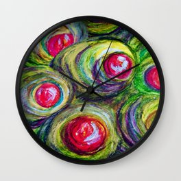 Olives in a Jar Wall Clock