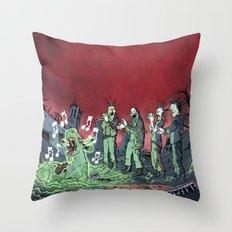 MUTANT PUNK GIG Throw Pillow