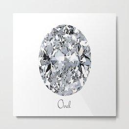 Oval Metal Print