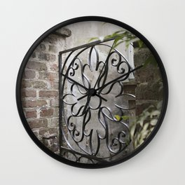 Charleston Back Garden Gate Wall Clock
