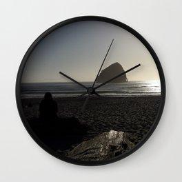 Haystack Rock Wall Clock
