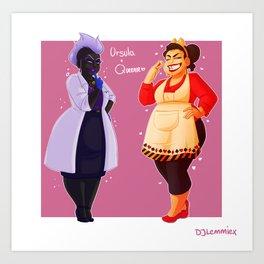 Ursula + Queenie Art Print