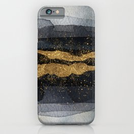 GOLD VEIN Abstract Watercolor Art Nr. 1 iPhone Case