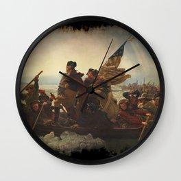 Washington Crossing the Delaware Wall Clock