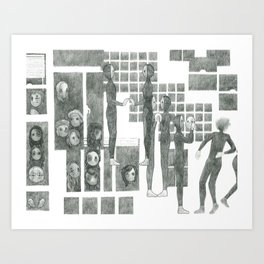 The Riddle Of Eyes (13/17) Art Print