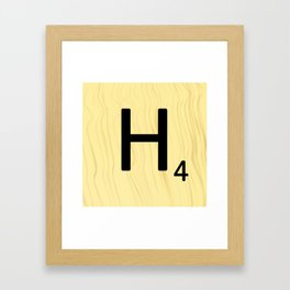 Scrabble H Decor, Scrabble Art, Large Scrabble Prints, Word Art, Accessories, Apparel, Home Decor Framed Art Print