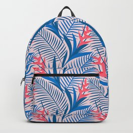 Tropical Flowers Blue&Pink Backpack