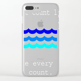 Funny Swimming Gifts Don'r Count Laps Water Clear iPhone Case