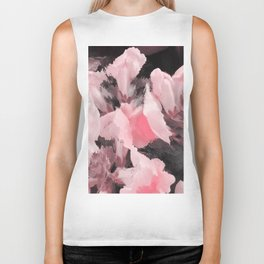 Light Pink Snapdragons Abstract Flowers Biker Tank