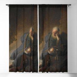 Rembrandt - Jeremiah Lamenting the Destruction of Jerusalem Blackout Curtain