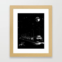 Lunar Convoy Framed Art Print