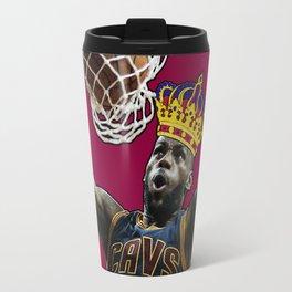 King LeBron Dunking James Travel Mug