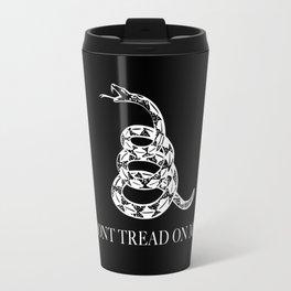Don't Tread On Me Snake Flag, white snake version Travel Mug