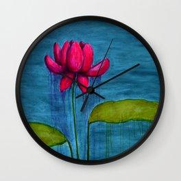 Pink Lotus Wall Clock