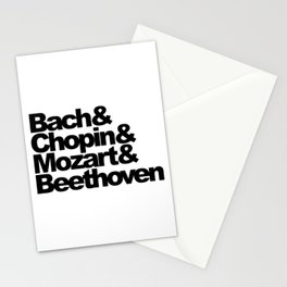 Bach and Chopin and Mozart and Beethoven Stationery Cards