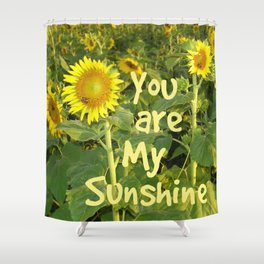 Sunflower Art // You are My Sunshine, Art with Bees Shower Curtain
