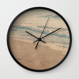 Morning Surf with Sand Pipers Wall Clock